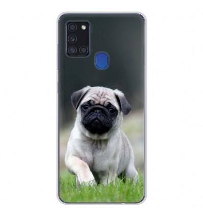 Coque en silicone Samsung Galaxy A21S - Bulldog français