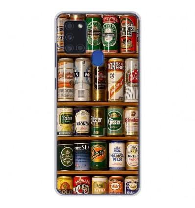 Coque en silicone Samsung Galaxy A21S - Canettes