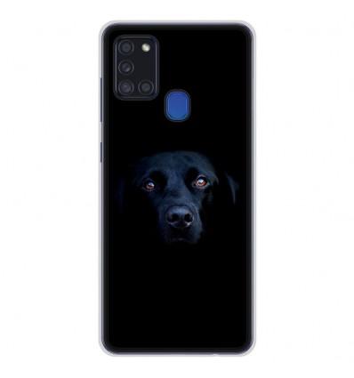 Coque en silicone pour Samsung Galaxy A21S - Chien noir