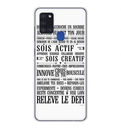 Coque en silicone pour Samsung Galaxy A21S - Citation 11