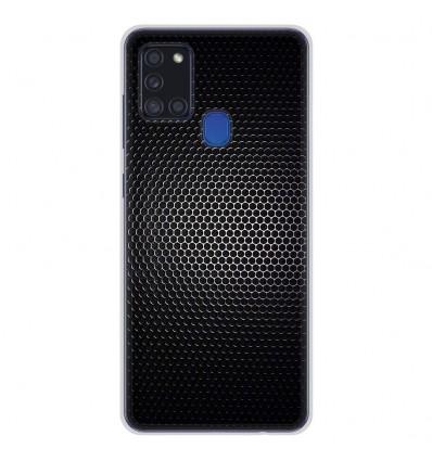 Coque en silicone pour Samsung Galaxy A21S - Dark Metal