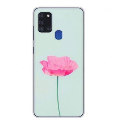 Coque en silicone pour Samsung Galaxy A21S - Fleur Rose