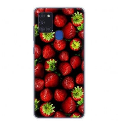 Coque en silicone Samsung Galaxy A21S - Fraises
