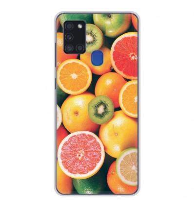 Coque en silicone Samsung Galaxy A21S - Fruits