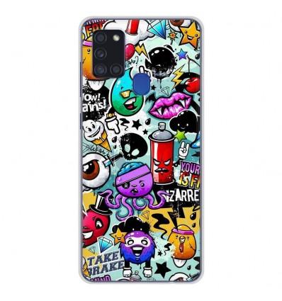 Coque en silicone Samsung Galaxy A21S - Graffiti 2