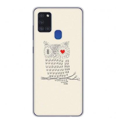 Coque en silicone Samsung Galaxy A21S - I Love Hiboux
