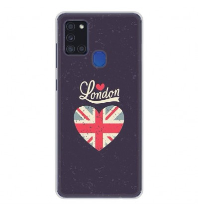 Coque en silicone Samsung Galaxy A21S - I love London