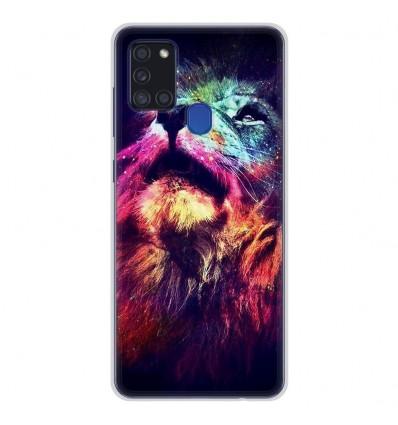 Coque en silicone pour Samsung Galaxy A21S - Lion swag