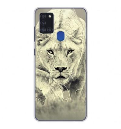Coque en silicone pour Samsung Galaxy A21S - Lionne