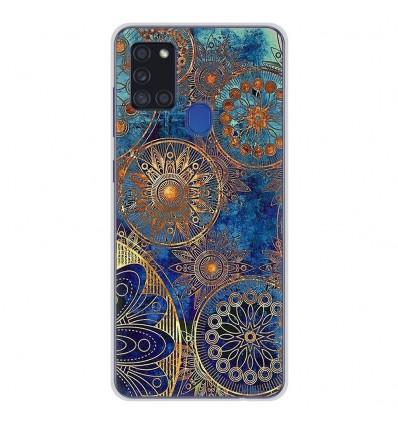 Coque en silicone Samsung Galaxy A21S - Mandalla bleu