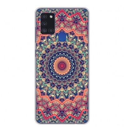 Coque en silicone Samsung Galaxy A21S - Mandalla rose