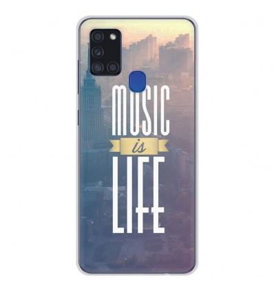 Coque en silicone Samsung Galaxy A21S - Music is life