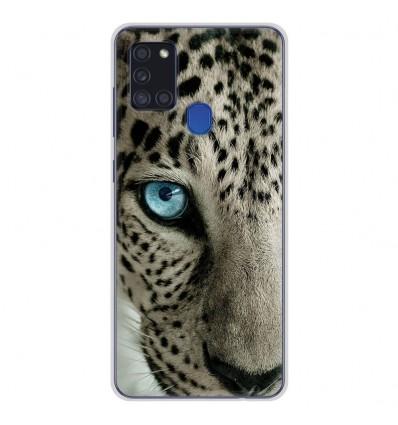Coque en silicone pour Samsung Galaxy A21S - Oeil de léopard
