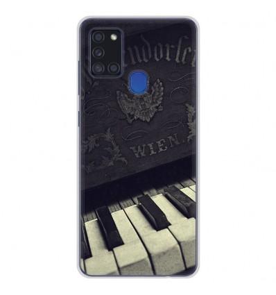 Coque en silicone Samsung Galaxy A21S - Old piano