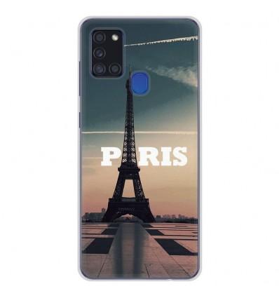 Coque en silicone Samsung Galaxy A21S - Paris