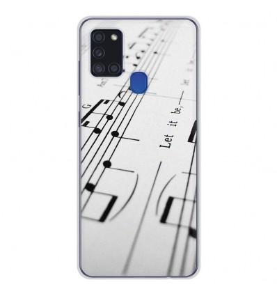 Coque en silicone Samsung Galaxy A21S - Partition de musique