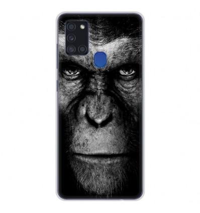 Coque en silicone pour Samsung Galaxy A21S - Singe