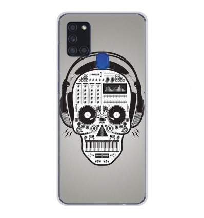 Coque en silicone Samsung Galaxy A21S - Skull Music