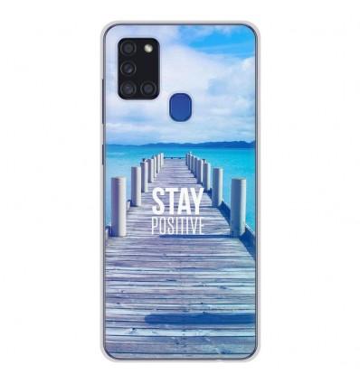 Coque en silicone Samsung Galaxy A21S - Stay positive