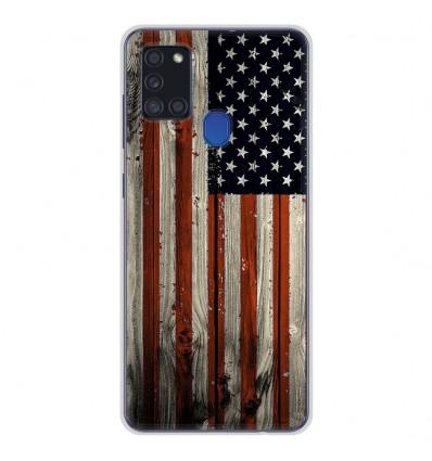 Coque en silicone Samsung Galaxy A21S - USA Hood