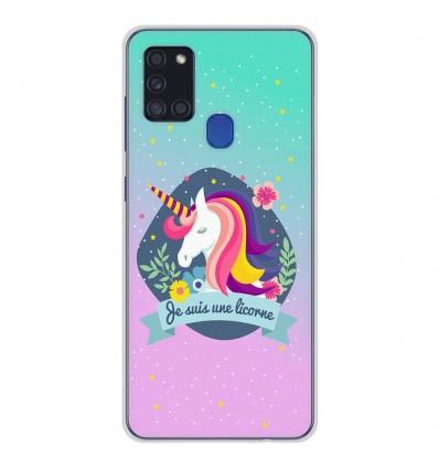 Coque en silicone pour Samsung Galaxy A21S - Je suis une licorne