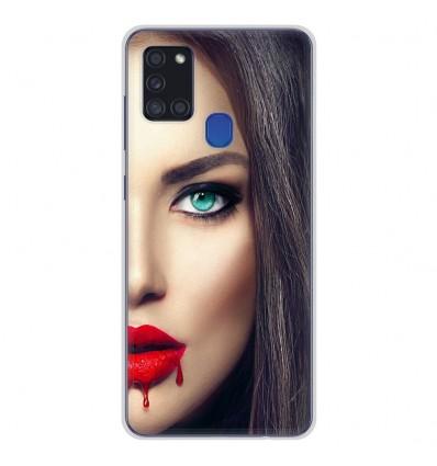 Coque en silicone pour Samsung Galaxy A21S - Lèvres Sang
