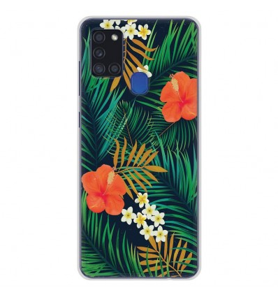 Coque en silicone Samsung Galaxy A21S - Tropical