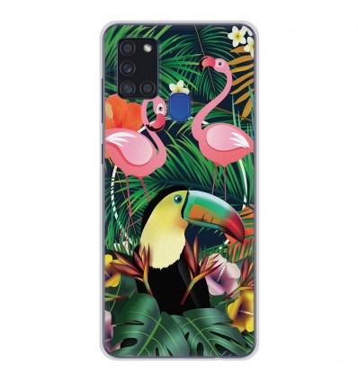 Coque en silicone Samsung Galaxy A21S - Tropical Toucan