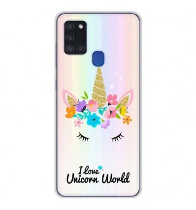 Coque en silicone pour Samsung Galaxy A21S - Unicorn World