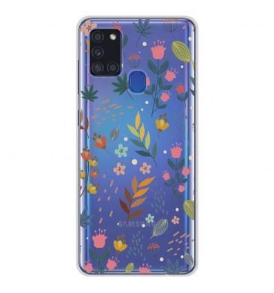 Coque en silicone pour Samsung Galaxy A21S - Fleurs colorées