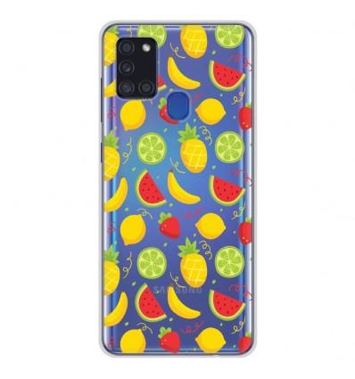 Coque en silicone pour Samsung Galaxy A21S - Fruits tropicaux