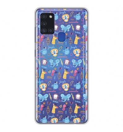 Coque en silicone Samsung Galaxy A21S - Happy animals
