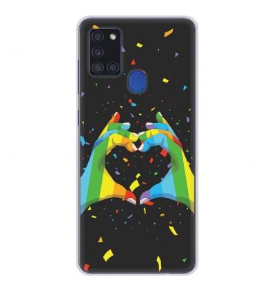 Coque en silicone Samsung Galaxy A21S - LGBT