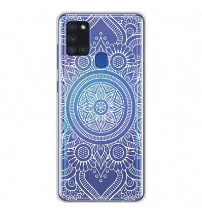 Coque en silicone Samsung Galaxy A21S - Mandala blanc