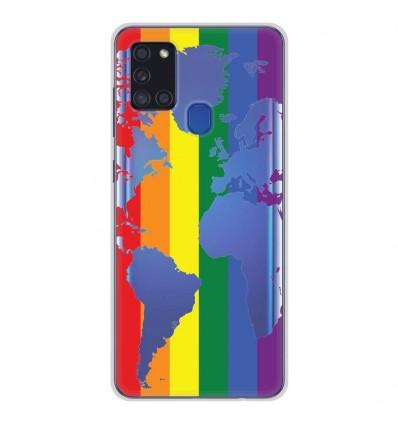Coque en silicone Samsung Galaxy A21S - Map LGBT