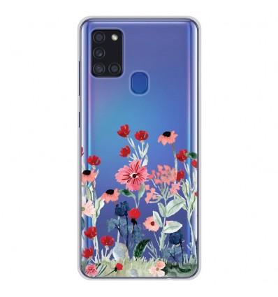 Coque en silicone Samsung Galaxy A21S - Printemps en fleurs