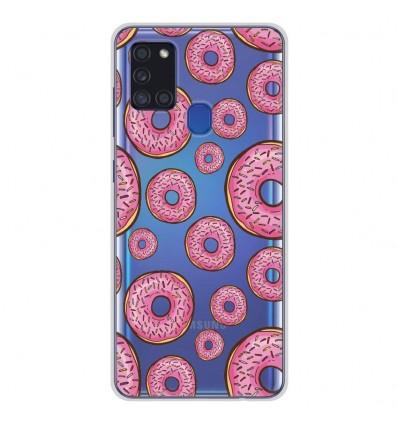 Coque en silicone pour Samsung Galaxy A21S - Donuts