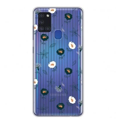 Coque en silicone Samsung Galaxy A21S - Fleurs de Jardin