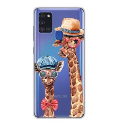 Coque en silicone Samsung Galaxy A21S - Funny Girafe