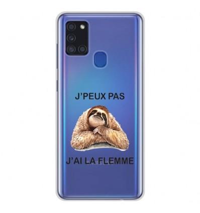 Coque en silicone Samsung Galaxy A21S - J'peux pas j'ai la flemme