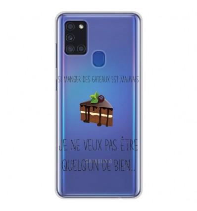 Coque en silicone Samsung Galaxy A21S - Manger des gâteaux