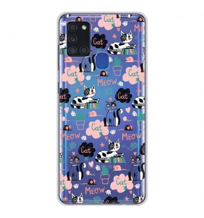 Coque en silicone Samsung Galaxy A21S - Miaou