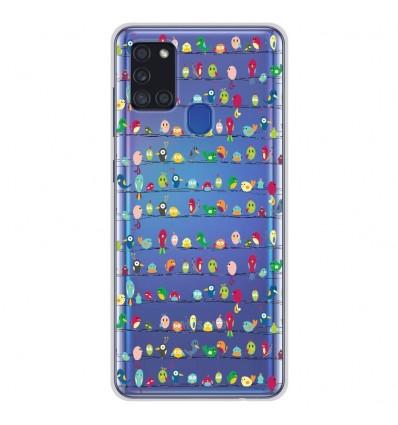 Coque en silicone Samsung Galaxy A21S - Oiseaux