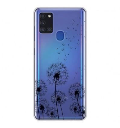 Coque en silicone Samsung Galaxy A21S - Pissenlits Noir