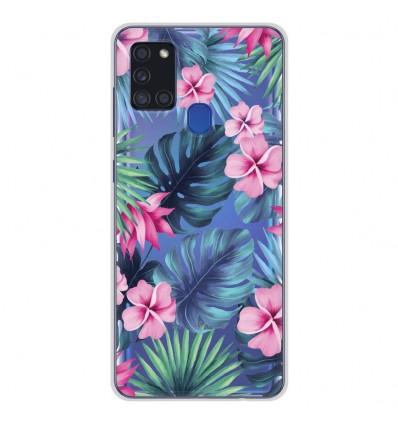Coque en silicone pour Samsung Galaxy A21S - Tropical Aquarelle