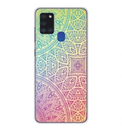 Coque en silicone pour Samsung Galaxy A21S - Mandala Pastel