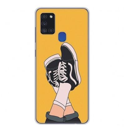 Coque en silicone pour Samsung Galaxy A21S - Sneakers