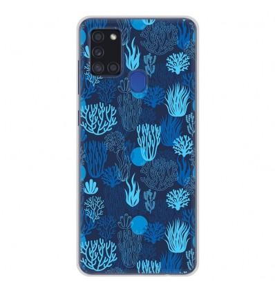 Coque en silicone Samsung Galaxy A21S - Corail bleu