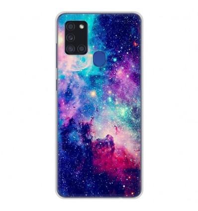 Coque en silicone Samsung Galaxy A21S - Galaxie Bleue
