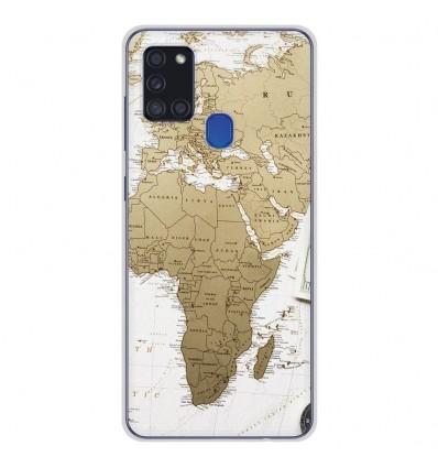 Coque en silicone Samsung Galaxy A21S - Map Europe Afrique